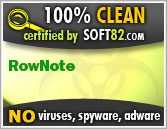 Soft82 100% Clean Award For RowNote