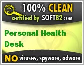 Soft82 100% Clean Award For Personal Health Desk