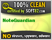Soft82 100% Clean Award For NoteGuardian