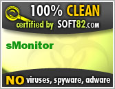 Soft82 100% Clean Award For sMonitor