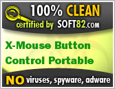 Soft82 100% Clean Award For X-Mouse Button Control Portable