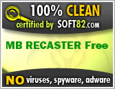 Soft82 100% Clean Award For MB RECASTER Free