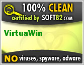 Soft82 100% Clean Award For VirtuaWin