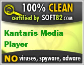 Soft82 100% Clean Award For Kantaris Media Player