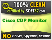 Soft82 100% Clean Award For Cisco CDP Monitor