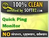 Soft82 100% Clean Award For Quick Ping Monitor