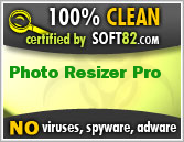 Soft82 100% Clean Award For Photo Resizer Pro