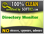 Soft82 100% Clean Award For Directory Monitor
