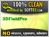 Soft82 100% Clean Award For 3DFieldPro