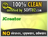 JCreator Pro 2012!قم بصنع برامجك الخاصة بكل بساطة مع أشهر وأقوى برنامج للبرمجة! Soft82_clean_award_50824
