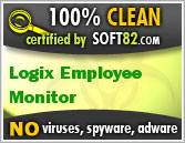 Soft82 100% Clean Award For Logix Employee Monitor