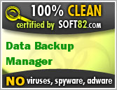 Soft82 100% Clean Award For Data Backup Manager