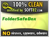 Soft82 100% Clean Award For FolderSafeBox