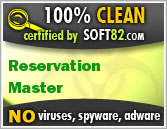Soft82 100% Clean Award For Reservation Master