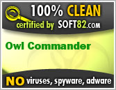 Soft82 100% Clean Award For Owl Commander
