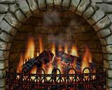 3D Realistic Fireplace Screen Saver screenshot