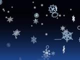 3D Winter Snowflakes Screensaver screenshot