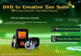 4Videosoft DVD to Creative Zen Suite screenshot
