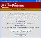 Access MDE Unlocker screenshot