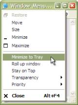 Actual Window Menu screenshot