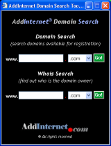 AddInternet Domain Search screenshot