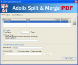 Adolix Split and Merge PDF screenshot
