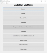 AutoRun LWMenu screenshot