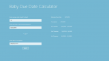 Baby Due Date Calculator screenshot