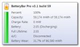 BatteryBar screenshot