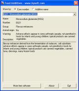 BySoft Food Additives screenshot
