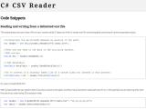 C# CSV Reader screenshot