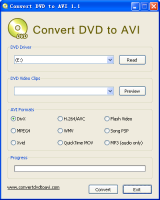 Convert DVD to AVI screenshot