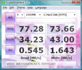 CrystalDiskMark screenshot