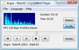 CrystalWolf Free Audio Player screenshot