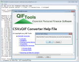 CSV2QIF Converter screenshot
