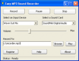 Easy MP3 Sound Recorder screenshot