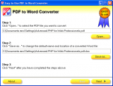 Easy-to-Use PDF to Word Converter screenshot