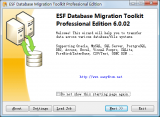 ESF Database Migration Toolkit Professional screenshot