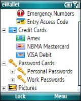 eWallet screenshot