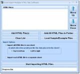 Excel Import Multiple HTML Files Software screenshot