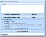 Excel List Files In Folder Software screenshot