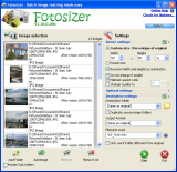 Fotosizer screenshot