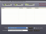 Free FLV to MOV Converter screenshot