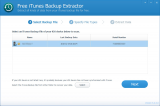 Free iTunes Backup Extractor screenshot