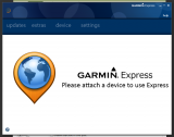 Garmin Express screenshot