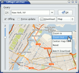 GMap Catcher screenshot