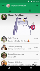 Google Hangouts screenshot