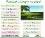 Handicap Manager for Excel screenshot