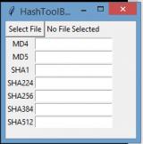 Hashtoolbox screenshot