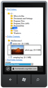 HomeWeb Personal Cloud screenshot